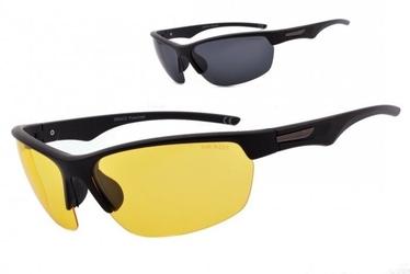 Sportowe okulary z dwoma soczewkami polaryzacyjnymi czarna i żółta - drs-53c4