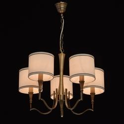 Elegancki żyrandol z kremowymi abażurami, antyczny mosiądz mw-light elegance 667011005