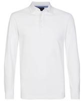 Męska koszulka polo z długim rękawem profuomo biała s
