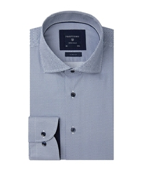 Granatowa koszula profuomo w gęsty wzór 37