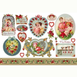 Papier ryżowy Stamperia 48x33 cm anioły