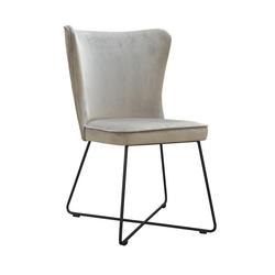 Nowoczesne krzesło tapicerowane ponte x na metalowych nogach