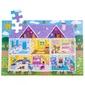 Puzzle drewniane dom dla lalek bj915 48el.