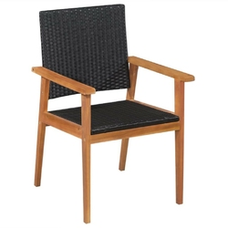 Zestaw ogrodowy stół + 8 krzeseł donatella polirattan czarny