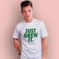 Just brew it t-shirt męski biały xxl