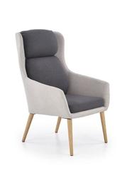 Fotel nowoczesny tapicerowany - drewniane nogi - purio 3