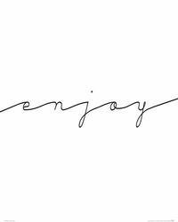 Enjoy - plakat