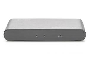 Digitus rozdzielaczsplitter hdmi 2-portowy, 4k 60hz uhd 3d hdr, hdcp 2.2, audio