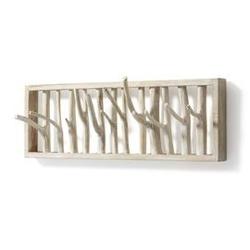 Drewniany wieszak fremunt 60x12 cm biały