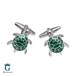 Spinki do mankietów zielony żółwik cw-152