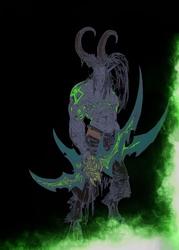 Blizzardverse stencils - illidan, the betrayer, warcraft - plakat wymiar do wyboru: 61x91,5 cm