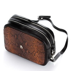Damska torebka kopertówka baleine r156 ciemny brąz