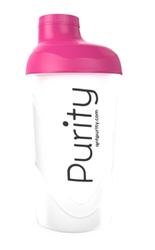 Shaker z sitkiem qnt purity 600ml różowy