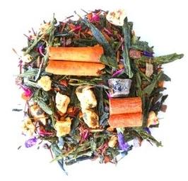 Herbata zielona o smaku śliwki w cynamonie 120g