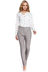Eleganckie spodnie damskie cygaretki szare m303