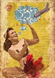 Papier ryżowy Calambour 33x48 cm kobieta plakat