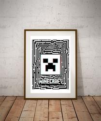 Maze Gaze Minecraft - plakat 3D Wymiar do wyboru: 29,7x42 cm