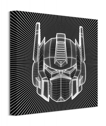 Transformers optimus prime wireframe - obraz na płótnie