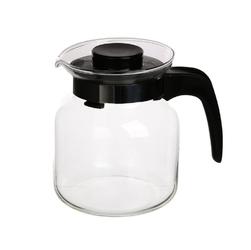 Dzbanek do herbaty, kawy, wody i soku szklany altom design 0,65 l czarny
