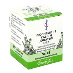 Biochemie 15 kalium jodatum d 12 tabl.
