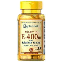 Puritans pride vitamin e-400iu with selenium 50mcg 100 softgels