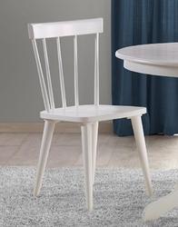 Białe drewniane krzesło barkley