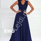 Granatowa długa sukienka na studniówkę, wesele- juliette 2