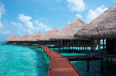 Maldives, wille na wodzie - fototapeta