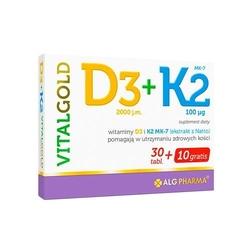 Alg pharma k2 + d3 vitalgold 40tabs dobra cena