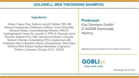 Goldwell men thickening, wzmacniający szampon do włosów dla mężczyzn 300ml