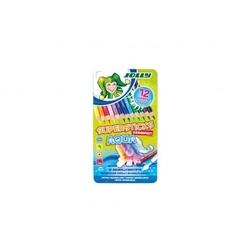 Kredki supersticks aqua 12 kolorów w metalowym pudełku