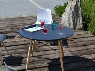Stół ogrodowy keris czarny skandynawski
