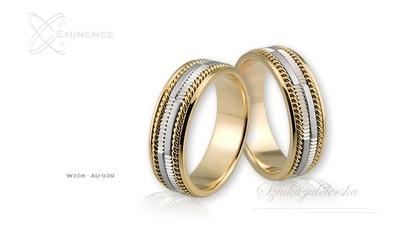 Obrączki ślubne - wzór au-039