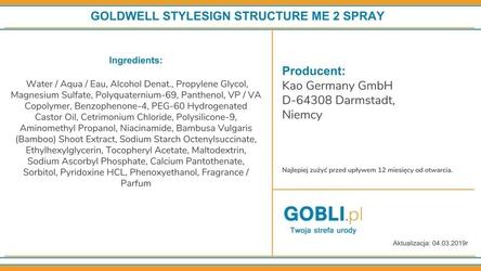 Goldwell style structure me, spray do włosów kręconych i falowanych 150ml