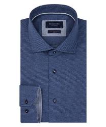 Granatowa dzianinowa koszula profuomo slim fit 39