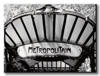 Metro entrance, paris - obraz na płótnie