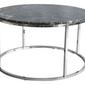 Rge :: stolik kawowy accent zielony marmur  chromowana podstawa śr. 85 cm