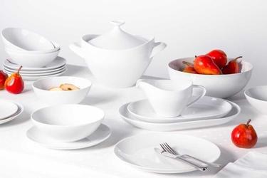Zestaw obiadowy dla 6 osób porcelana mariapaula moderna biała 24 elementy