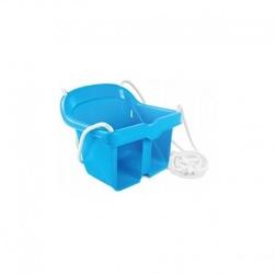 Huśtawka kubełkowa bezpieczna niebieska mochtoys