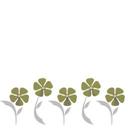 Wieszak ścienny Flo CalleaDesign oliwkowo-zielony 13-010-54