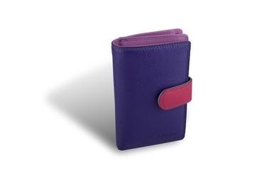 Kolorowy portfel valentini colors - fioletowy