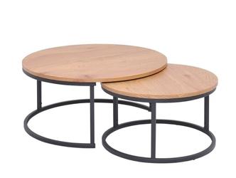 Okrągły stolik kawowy studio  zestaw 2 szt.