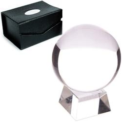 Szklana kula o średn. 13 cm, z podstawką