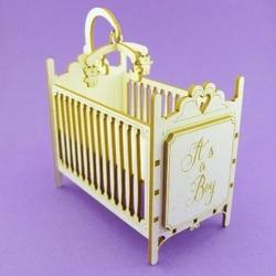 Łóżeczko dla dziecka 3d