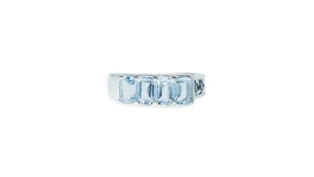 Srebrny pierścionek z topazem i szafirem