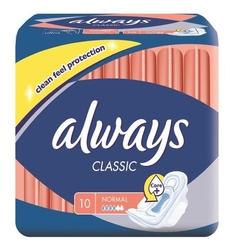Always classic normal, podpaski higieniczne ze skrzydełkami, 10 sztuk