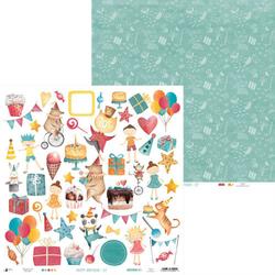 Papier do scrapbookingu Happy Birthday 30,5x30,5 cm - 07 - 07