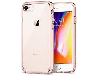 Etui spigen ultra hybrid 2 apple iphone 78se 2020 rose crystal + szkło alogy - różowy