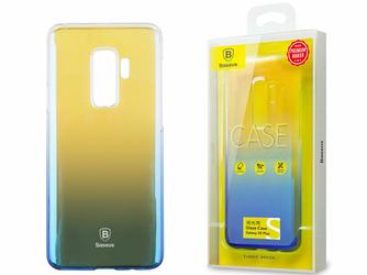 Etui Baseus Glaze Samsung Galaxy S9+ Plus ombre aurora Blue - Niebieski
