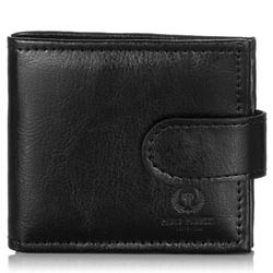 Męski skórzany portfel l-02-pp czarny